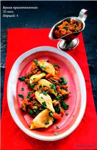 Кальмары в пряном томатном соусе