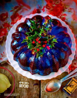 Финиковый пудинг масала с карамельным соусом