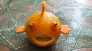 Карвинг. Рыбка из апельсина